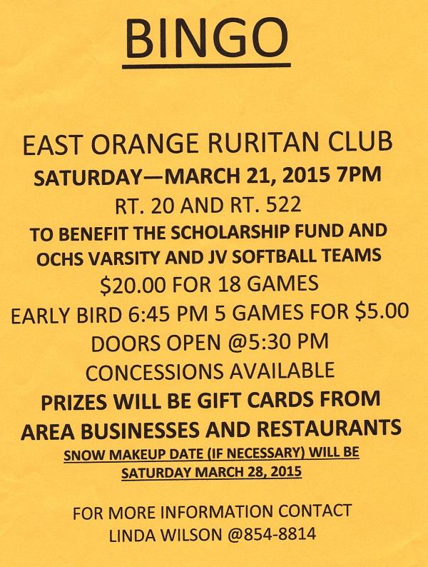 East Orange Bingo flyer 3-21-15