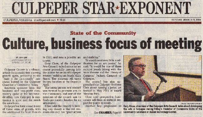 Culpeper Star-Exponent Page A1 March 9, 2014