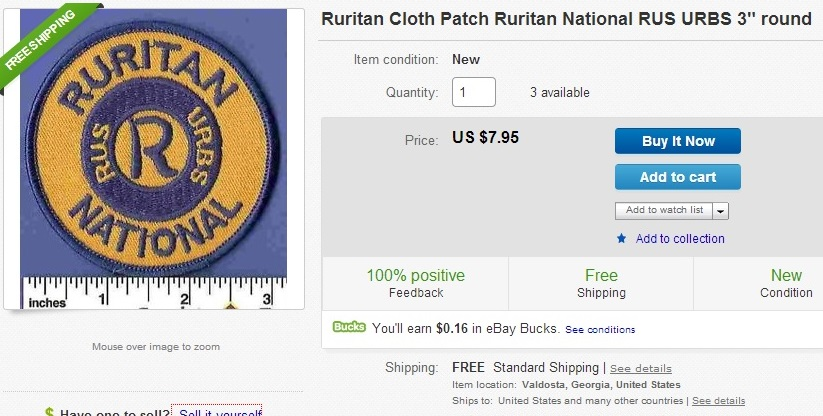 Ruritan patch on Ebay