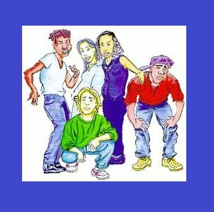 teenagers (free clip art)