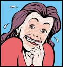 embarrased woman (free clip art)