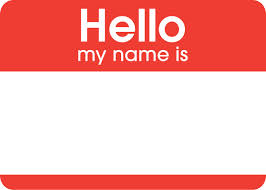 Hello my name is (free clip art)