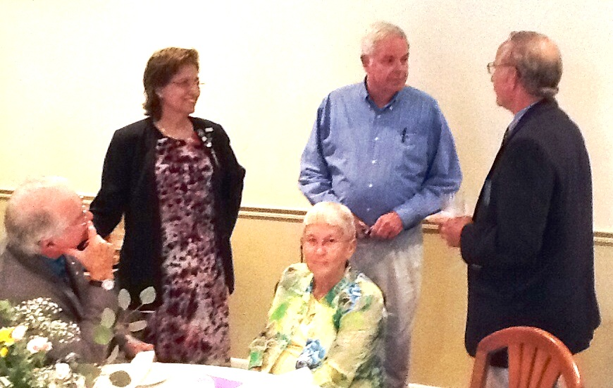 Al MacDonald, Linda Bradshaw, Joyce Marshman, Hank Smith, Perry Marshman May 20 2014 at Fluvanna Ruritan 75th Anniversary Party