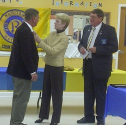New members Jack and Coral Losinski installed by National President-Elect Bobby Burton
