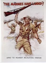 "Holladay, Reuben, ""Doc,"" 1968 -1990, Belmont Ruritan (photo Marines poster)"