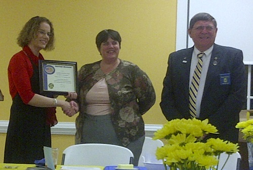 Sarah Kelly, Irene Luck, Bobby Burton at Louisa County Ruritan's 75th Anniversary Celebration