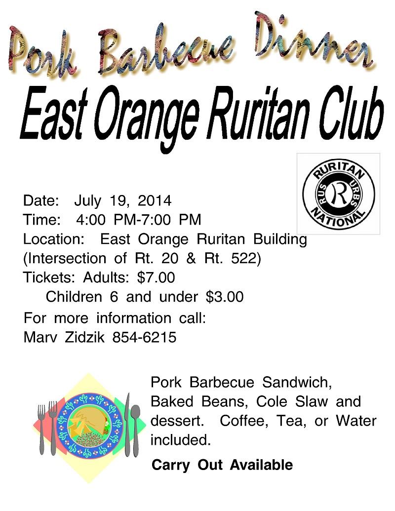 East Orange BBQ Flyer 2014