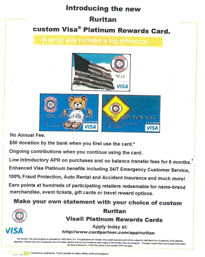 New Ruritan VISA Card program 6-24-14