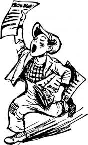 newspaper boy (free clip art)