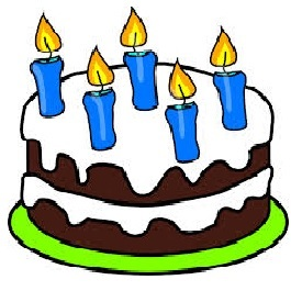 5 candles cake (free clip art)