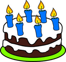 6 candles cake (free clip art)