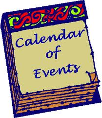 Calendar of events (free clip art)