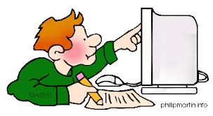 Internet - man searching online (free clip art)