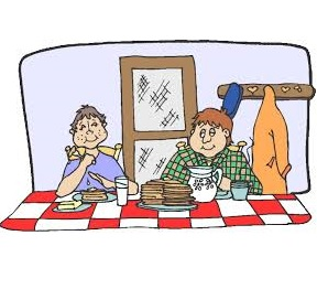 People eating pancakes (free clip art) for website   Ruritan's ...