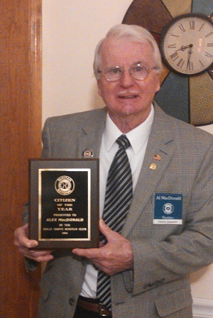 Al MacDonald Citizen of the Year 2014