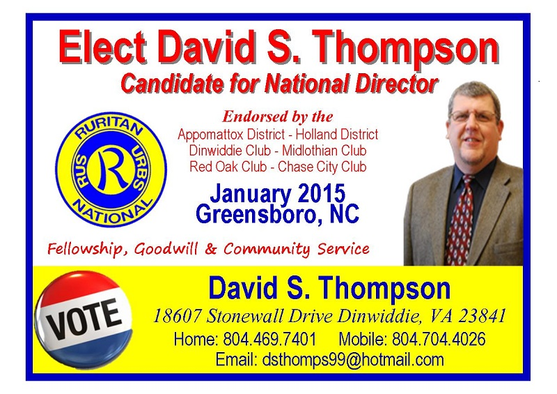 National Director Ad David Thompson