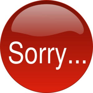 sorry button (free clip art)