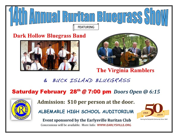 14th Annual Bluegrass Show flyer