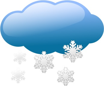 Snowy cloud (free clip art)