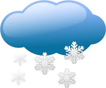 Snowy cloud (free clip art)