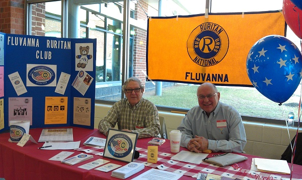 Burgess Jordan (left) and Roman Bakke at Volunteer Fluvanna Fair (photo provided by Florence Bakke)