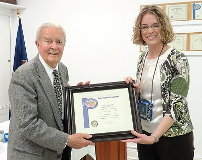 Bob Wright, Sarah Kelly (photo by Orange County Review Newspaper)
