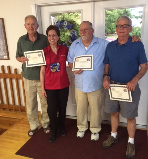 L-R Fritz Brittain, Linda Bradshaw, Donald Rogers, James Morse (photo credit Hank Smith)
