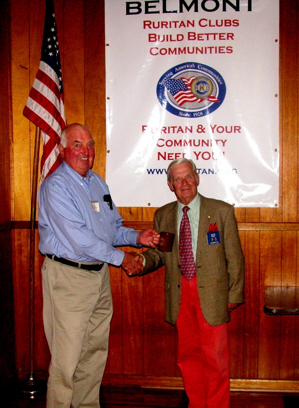 Left to right: Bobby Goodwin, David Rowe (photo provided by Belmont Ruritan Club)