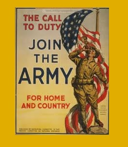 """Meares, Edward D. """"Dick"""", 1945-1974, Wolftown Ruritan (photo Army recruitment poster)"""
