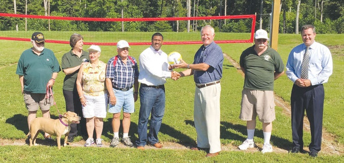 Greene County Donates Volleyball court (photo from The Daily Progress)