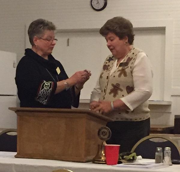 L-R Deborah Gaulden, Pam Harris (photo credit Linda Bradshaw)