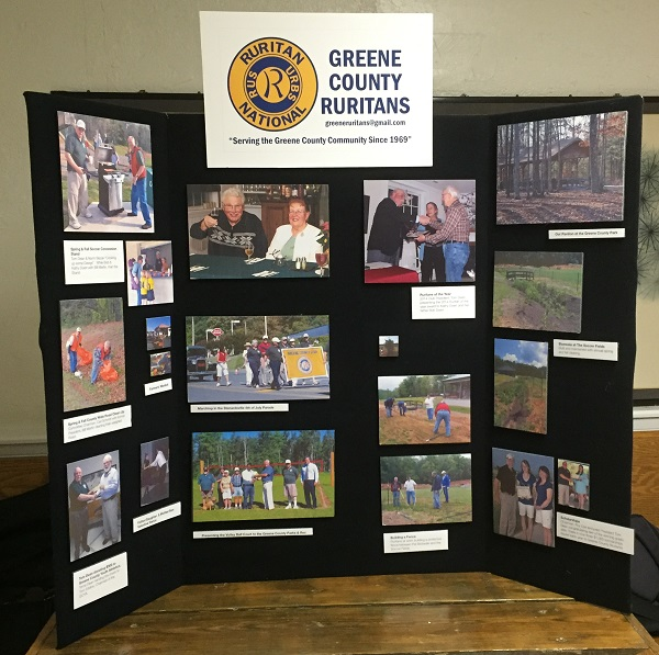 Greene County Ruritan Display Board (photo credit Linda Bradshaw)
