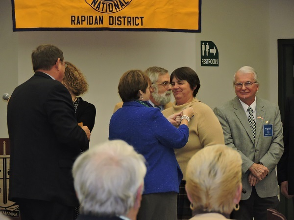 Irene Luck being installed as 2016 Rapidan District Governor resized for web (photo by Jefferson VA Ruritan Club)