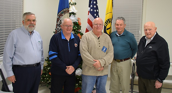 L-R Bob Houck, Robert Thornbill, Pat Kennedy, Max Weber, Barry Beale (photo provided by Salem Ruritan Club)