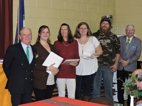 L-R: David Rowe, Betsy Dovell, Jennifer Caroline, Tamara Dovell, Troy Dovell, Al MacDonald (photo by Jefferson Ruritan Club)