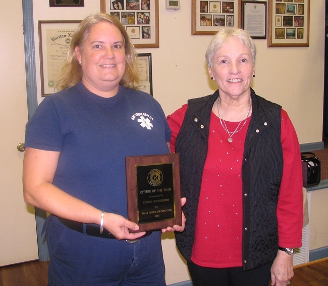 L-R Susan Anderson, Dianne Montgomery (photo provided by Holly Grove Ruritan Club)