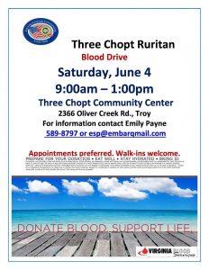 Three Chopt Ruritan Blood Drive