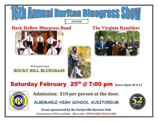 16th Annual Ruritan Bluegrass Show