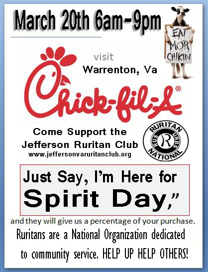 Jefferson Ruritan Spirit Night